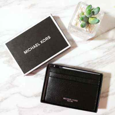 0faa958f6317 NWT Michael Kors Mens WARREN Leather Card Holder Case Money Clip in Gift  Box $78