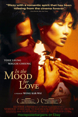 IN THE MOOD FOR LOVE MOVIE POSTER Original 2001 DS 27x40 N.MINT VERY RARE