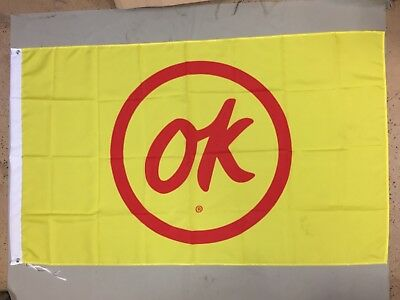 OK Used Car Chevrolet Chevy GM Truck Flag Banner Authorized Dealer Vtg Camaro