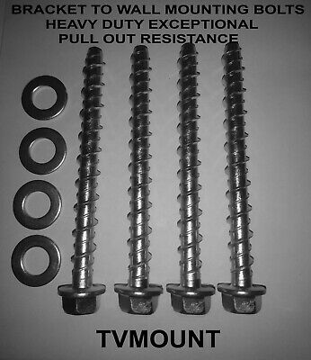 Tv Wall Mounting Bracket Bolts Screws Heavy Duty No Plugs Needed (Very secure)