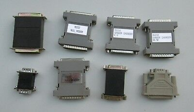 8 assorted PC port gender benders and adapters