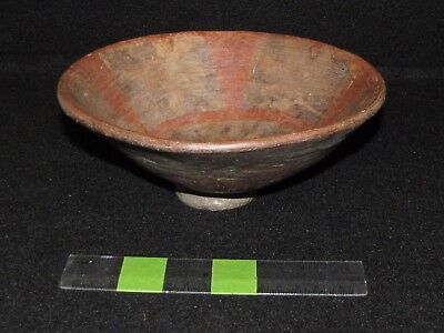Pre Columbian, Mayan Pottery Pedestal Bowl,  Early Classic 300 A.D. 600 A.D.