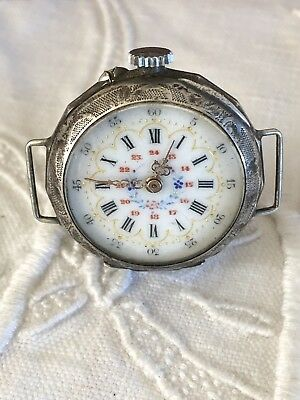 Antique Silver Fob Wrist Watch