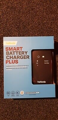 Halfords Car Battery Smart Charger Plus For 12V Vehicles Up To 3.5L Start-Stop