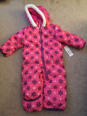 1658a7f59 Toddler Girls Hooded One Piece Winter Snowsuit 18 Mo By Pink Platinum