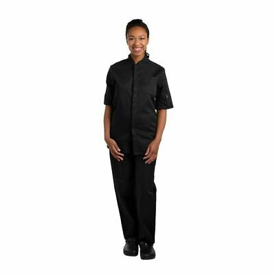 Le Chef Unisex Contemporary Prep Shirt Black | Short Sleeve Polycotton Uniform