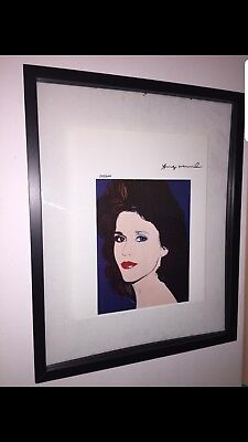 Andy warhol hand signed original print certificate COA $3450 year 1986