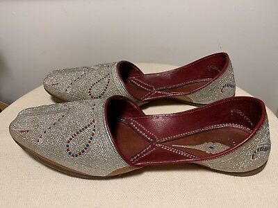 Antique Original Middle Eastern Hand Crafted Leather Shoes