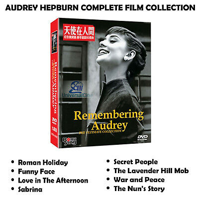 Audrey Hepburn Complete Film Collection NEW ALL REGION COMPATIBLE 8 DVD Box Set
