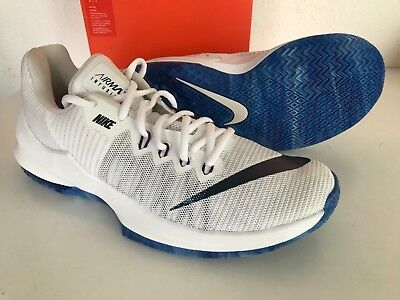 10e64626dc NEW NIKE AIR MAX Infuriate II PRM 2 White Blue Men Basketball US 8.5 AJ1933-