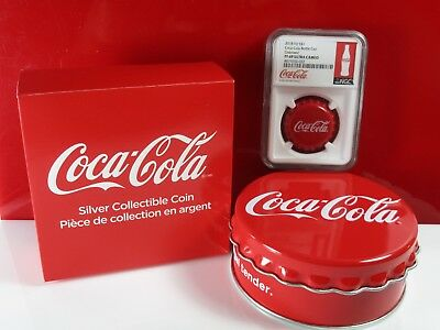 2018 Fiji Coca-Cola Coke Bottle Cap 6g Silver NGC PF69 Whitecore Coin