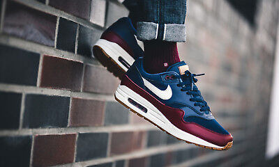 premium selection 15901 82017 2018 NIKE AIR MAX 1 Essential, Gum Sole, Navy-Sail-Red (