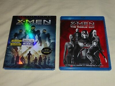 Lot of 2 Blu-ray X-Men Days of Future Past Ultimate Edition AND The Rogue Cut