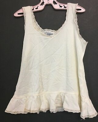 Vintage Girls Toddlers Tagged Styled By Nahas Ivory Color Slip w/ Lace Trim