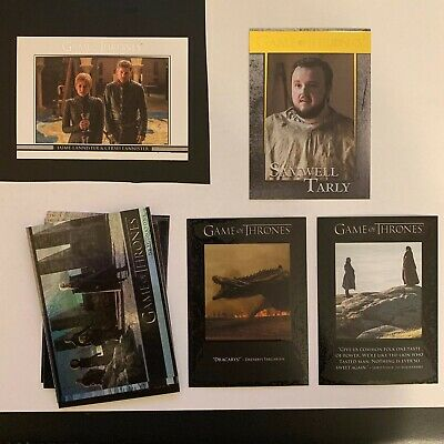 2018 Game of Thrones Season 7 Rittenhouse Insert Lot Gold, Q, DL, Foil Parallel