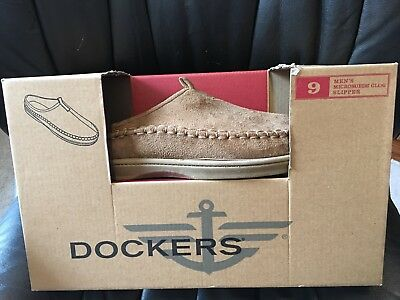 e2a4a8a59b2 NEW~DOCKERS~MENS~CUSHIONED~MICRO SUEDE CLOG~SLIPPERS~SHOES~LIGHT ...