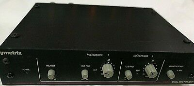 SYMETRIX SX 202  Vintage Mic Pre-Amp in Excellent Condition, Upgraded to 5532