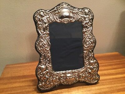 Sterling Silver Photo Frame with Cherub Decoration, Birm C1997