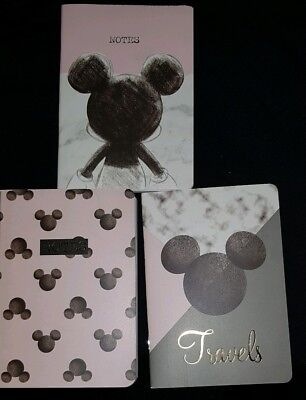 Disney 3 Pack A6 Note Books Mickey Mouse/ Minnie Mouse