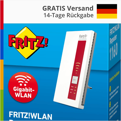 📱🎁 AVM FRITZ FritzBox WLAN WiFi Repeater 1160 Range Wireless Mesh 2,4 & 5 GHz