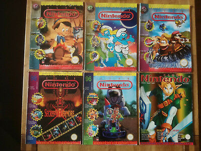 6x Club Nintendo 1/96 + 2/96 + 3/96 + 5/96 + 6/96 + 8/98 GB NES SNES
