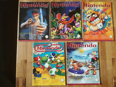 5x Club Nintendo 6/97 + 1/98 + 2/98 + 3/98 + 5/98 GB NES SNES