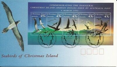 1993 Christmas Island - Seabirds of Christmas Island Mini Sheet FDC FDI