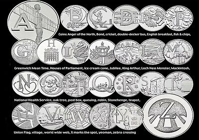 UK Great Britain The Best of British Alphabet 10p 10 Pence 2018 10pence Y Coin,