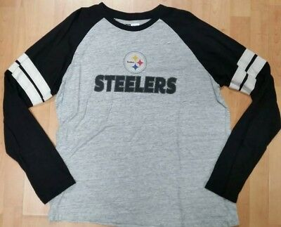 32f0499bd09 NWT NFL TEAM APPAREL PITTSBURGH STEELERS FOOTBALL SHORT SLEEVE JERSEY MENS  LARGE Activewear Tops