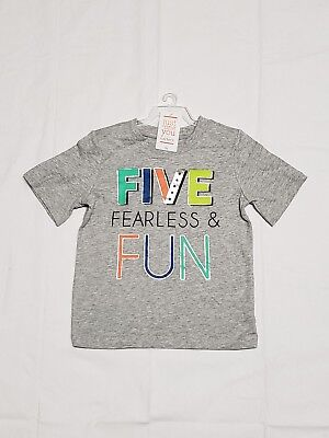 Toddler 5th Birthday Shirt Five Fearless Fun Just One You By Carters Sz 5T NWT