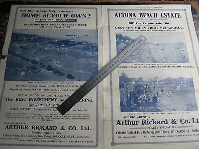 Altona Beach. Arthur Rickard & Co, Real Estate, Map. ABC Cafe.