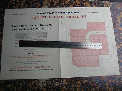K Gardner & Lang Real Estate. Armadale Map & Sales Brochure 1938
