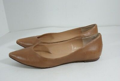 67acd81340a Audrey Brooke Nora Women s Size 10 M Brown Leather Slip On Ballet Flats  Shoes