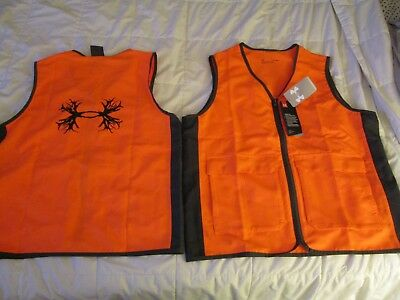 1aa4ed933f02d NEW Youth UNDER ARMOUR Blaze Orange Antler Logo Hunting Vest YLG 14-16 FREE  SHIP