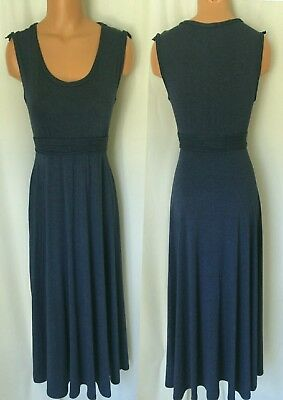 161dbde07f93c6 MAX STUDIO LIGHT Navy Ruched Sleeveless Dress Size S New With Tag ...