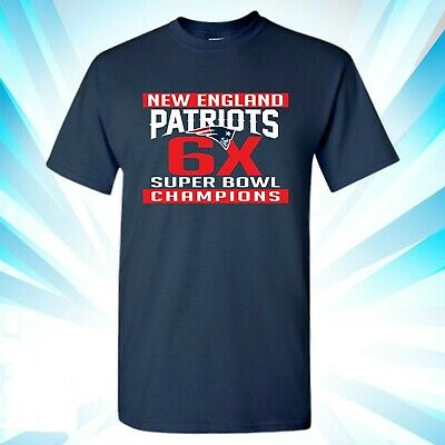 009 Super Bowl 53 LIII Champions New England Patriots NAVY BLUE T-Shirt 2019 NFL