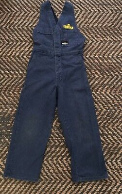 Kids Boys / Girls Hard Yakka Navy Blue Overalls Size Small No Longer Available