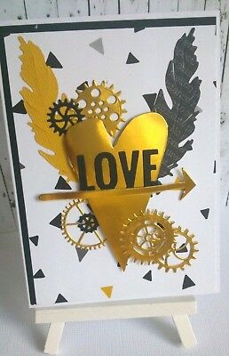 Handmade Valentine's Day/Love Card: Love (cogs)