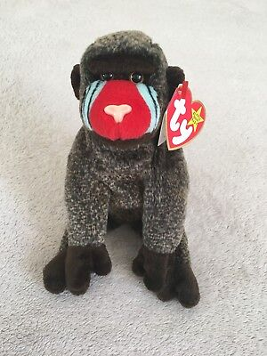 Ty Beanie Babies Cheeks The King Kong Colorful Gorilla