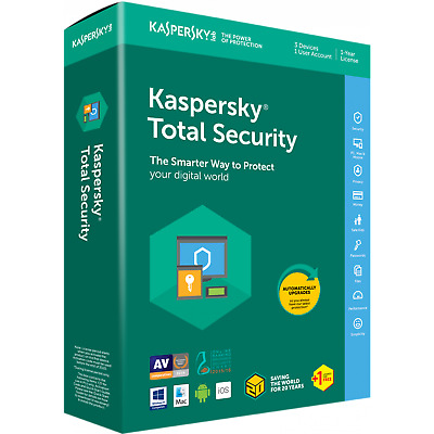 Kaspersky Total Security 1 Devices PC User 1YR 2019 EU USA Canada Lat.America