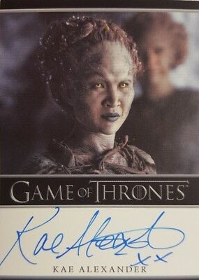 2018 GAME OF THRONES Season 7 Autograph Card KAE ALEXANDER as LEAF Rittenhouse