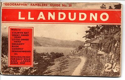 Geographia Ramblers' Guide No 20, Llandudno & Conway District, Fold Out Map