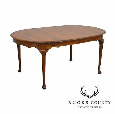 Pennsylvania House Pine Oval Queen Anne Expandable Dining Table