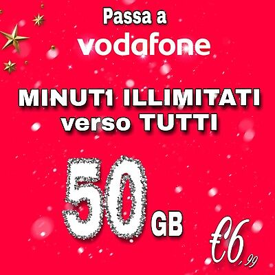 COUPON PASSA A VODAFONE Special MIN ILLIMITATI 50GB in 4.5 G DA VIRTUALE