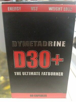 Dymetadrine D30+ T-5 Fat Burner/Energy/Focus Weight Loss Strong Dieting Pill