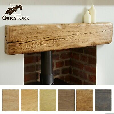Aged Oak Rustic Beam  I  Character Fireplace Mantel  I  All SIzes & Lengths