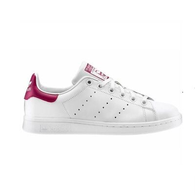 ... Adidas Stan Smith Bianco Bordeaux Scarpe Shoes White Sneakers Mens Donna  Uomo... 5 4c6ef697da4