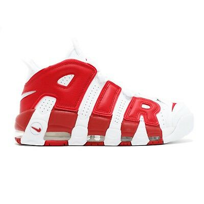 Nike Air More Uptempo Wmns Bianco Rosso White Red University Mens Uomo  Donna . 551f1f7039a