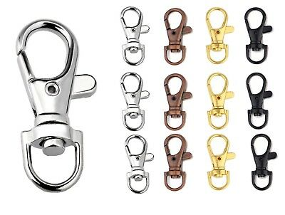 Swivel Lobster Clasps Trigger Clips Bag Key Purse Ring Snap Hook Keychain 37mm