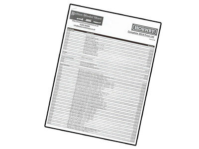 Hornby 2019 Product Catalogue Price List - For R8157 00 Model Railway